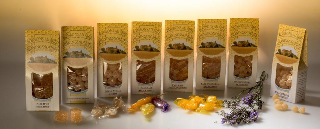 Image publicitaire des bonbons de Provence au miel